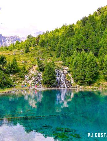 lac bleu, arolla, lacs, montagne, val d'hérens, valais, suisse