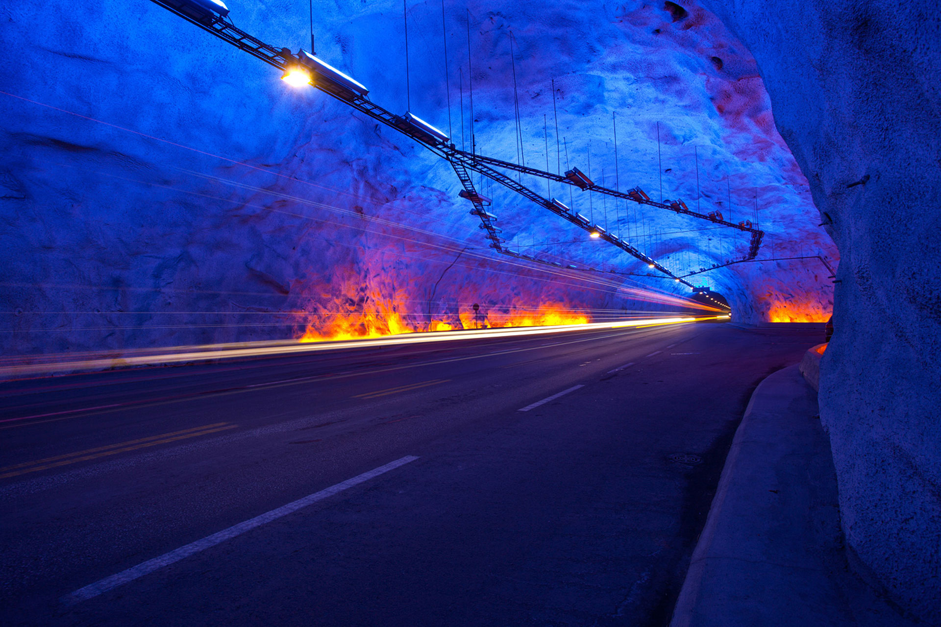 2019, tunnel, laerdal, norvege