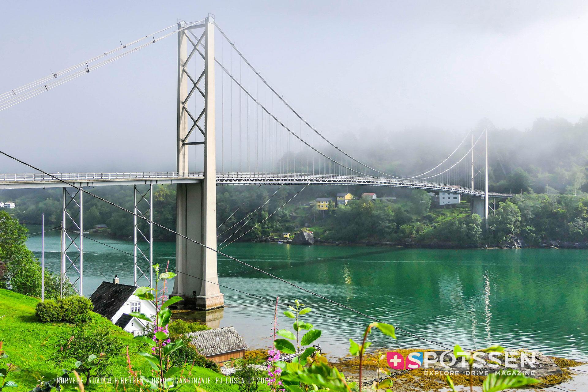 2019, norvège, pont, hardanger